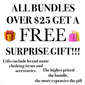 💜ALL BUNDLES OVER $25 GET A FREE GIFT💜